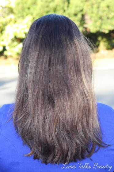 hair using Schwarzkopf styliste ultime biotin souffle