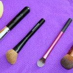Makeup brushes for the face