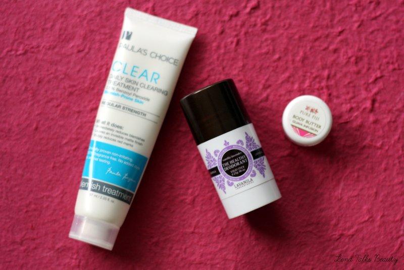 August Empties - Paula's Choice Blemish Treatment, Lavanilla deodorant, Pure Fiji Body Butter