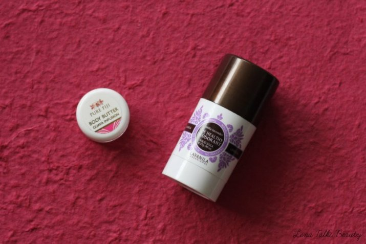 Lavanilla Vanilla Lavender Deodorant and Pure Fiji Body Butter Guava Infusion