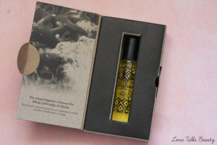 Trilogy Raha perfume open