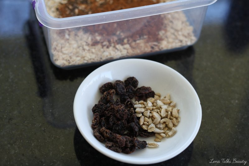 Sultanas and Sunflower Seeds for Overnight Oats - Lena Talks Beauty