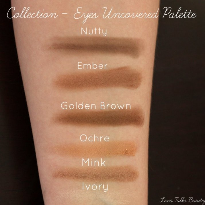 Collection eyes uncovered palette swatches - Lena Talks Beauty-001