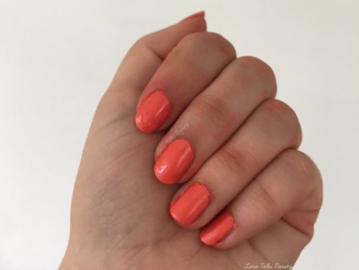 Bourjois 03 la laque orange outrant nail lacquer - lena talks beauty.05