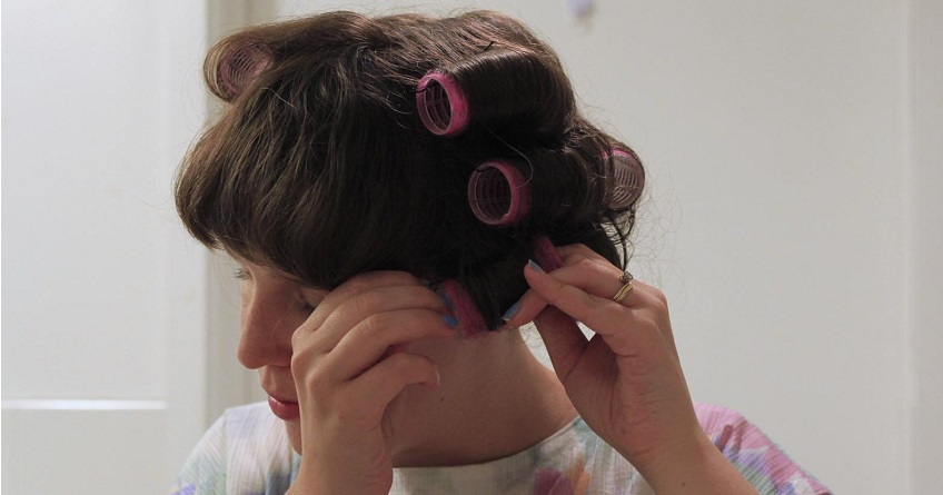 velcro rollers hair tutorial, no heat curls - lena talks beauty