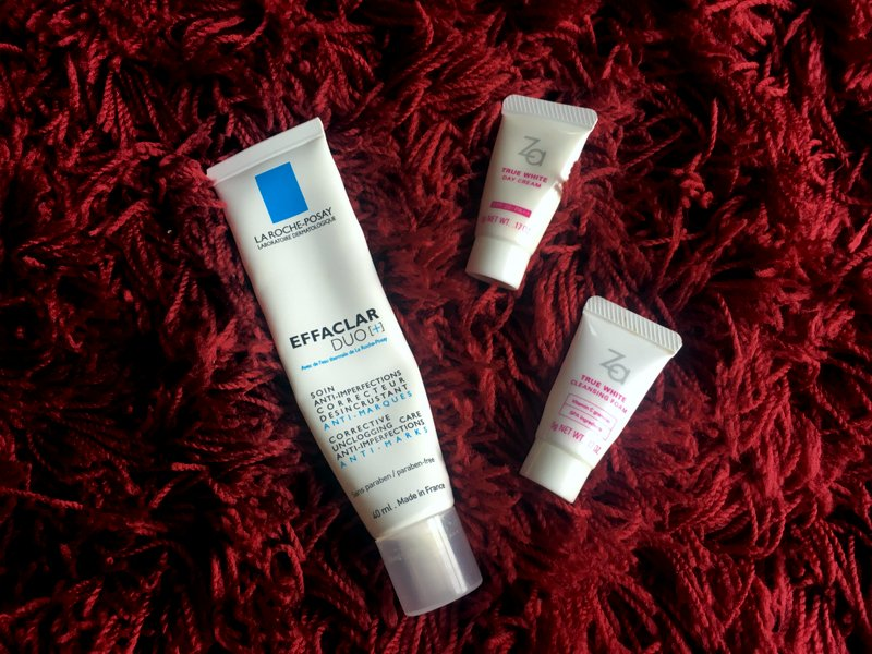 La Roche-Posay Effaclar Duo+, Za True White Day Cream, Za True White Cleansing Foam - Lena Talks Beauty