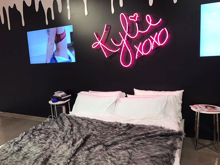 Kylie Jenner pop up shop Kylie's bedroom - Lena Talks Beauty