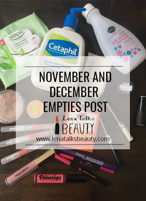 Lena Talks Beauty's November and December empties post