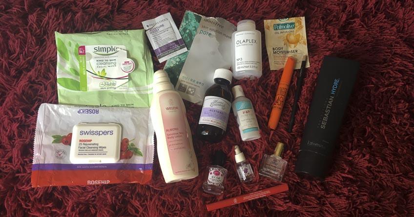 Lena Talks Beauty empties post - swisspers, simple, weleda, sebastian, olaplex, palmolive, pure fiji, mac cosmetics, collection cosmetics, paula's choice, innisfree, orly, hk girl