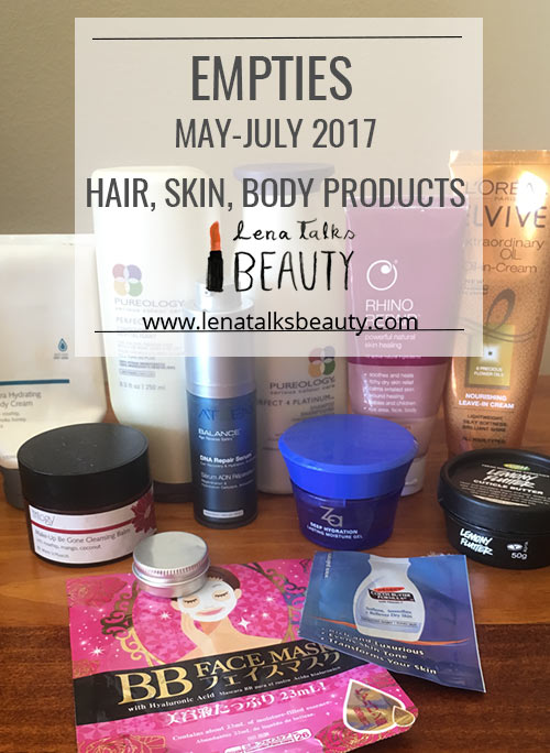 Lena talks beauty empties post - hair, skin & cuticles product review