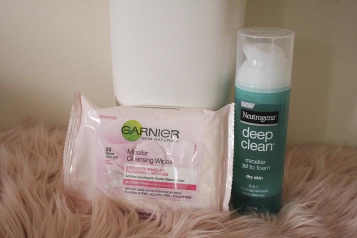 Garnier Micellar Cleansing Wipes, Neutrogena Deep Clean Micellar Gel to Foam - Lena Talks Beauty