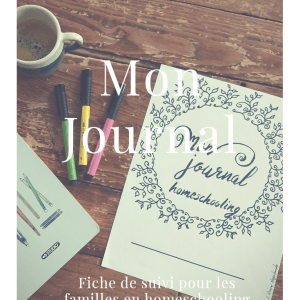 Fiches bujo, unschooling, lencrevagabonde, journal