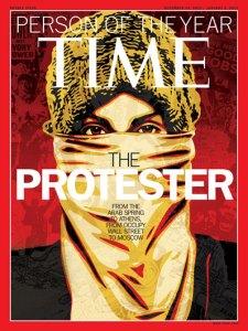"""Tạp chí TIME đã chọn """"người biểu tình"""" là Nhân vật Tiêu biểu trong năm 2011."""