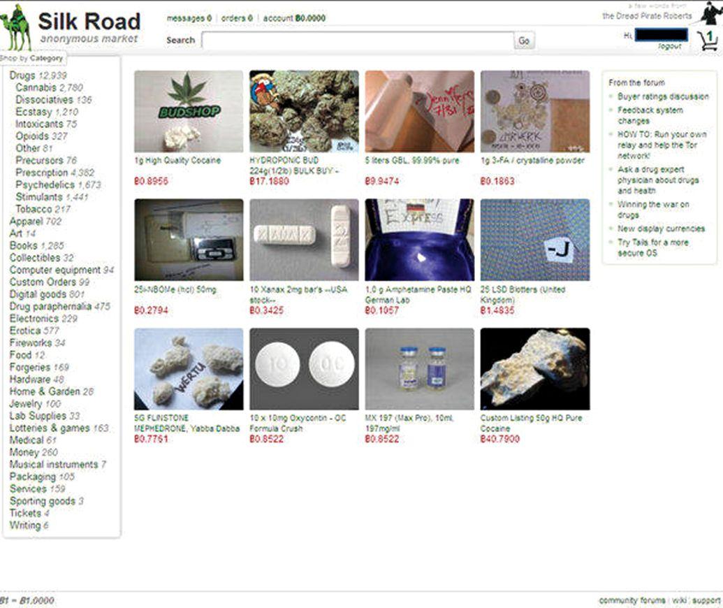 Việc mua bán ma túy gần như không thể truy dấu vết được trên mạng Silk Road (Ảnh: Bộ Tư pháp Mỹ)