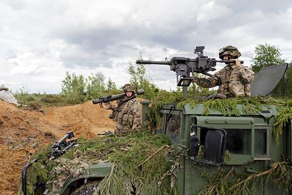 Lính Latvia tham gia trong cuộc tập trận Tapa. (Ảnh: Andrejs Strokins)