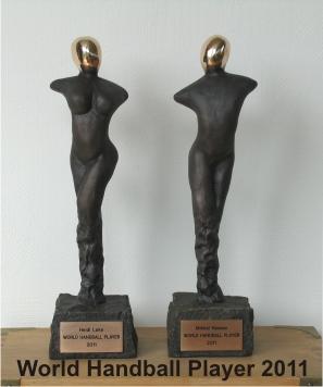 Håndbold skulptur