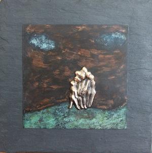 bronzebillede_kunst_bronzeskulptur_lene_purkaer_stefansen_varemaerkebeskyttet_gaa_mod_stroemmen