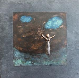 bronzebillede_kunst_bronzeskulptur_lene_purkaer_stefansen_varemaerkebeskyttet_glaed_dig_over_livsglaeden