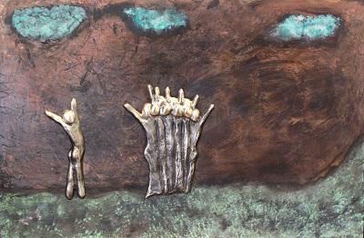 bronzebillede_kunst_bronzeskulptur_lene_purkaer_stefansen_varemaerkebeskyttet_Bare_glaed_dig_over_en_lille_succes_baade_din_egen_og_andres