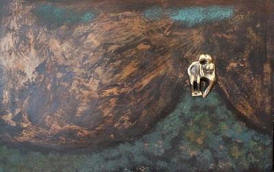 bronzebillede_kunst_bronzeskulptur_lene_purkaer_stefansen_varemaerkebeskyttet_Paa_livets_bakketop_med_udsigt_til_vores_kaerlighed