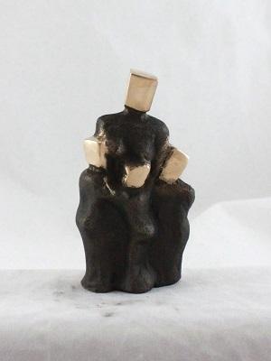 bronzeskulptur_lene_purkaer_stefansen_bronzefigur_kunst_skulpturer_mor_med_3_boern
