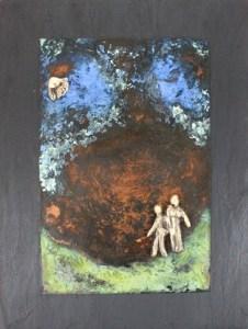 bronzebillede_kunst_bronzeskulptur_lene_purkaer_stefansen_varemaerkebeskyttet_Ta_med_ud_i_det_blaa