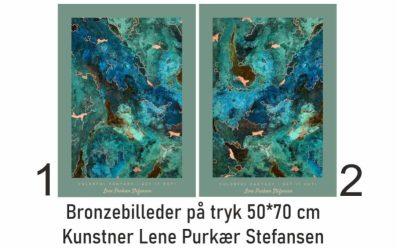 Et bronzebillede på tryk- Colorful Fantasi -Get it out- Lene Purkær Stefansen