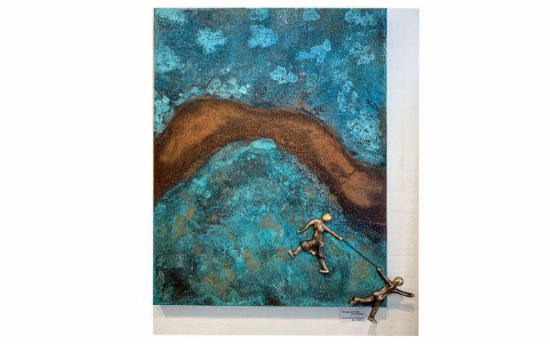 Udsmyk boligen med de skønne patineringsfarver. kunst på vægen bronzebilleder skønne patineringer