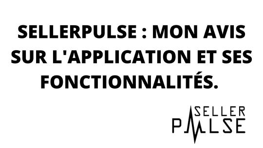 Seller Pulse : Avis sur l'application et ses fonctionnalités.