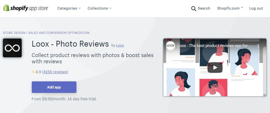 loox - photo reviews Shopify app store
