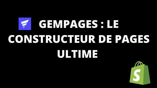 GemPages : Le constructeur de pages ultime pour Shopify.