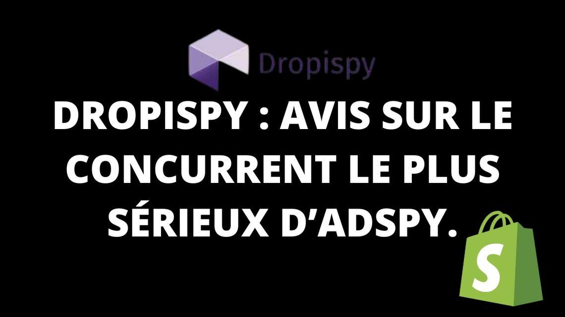 Dropispy : Avis sur le concurrent le plus sérieux d'Adspy.