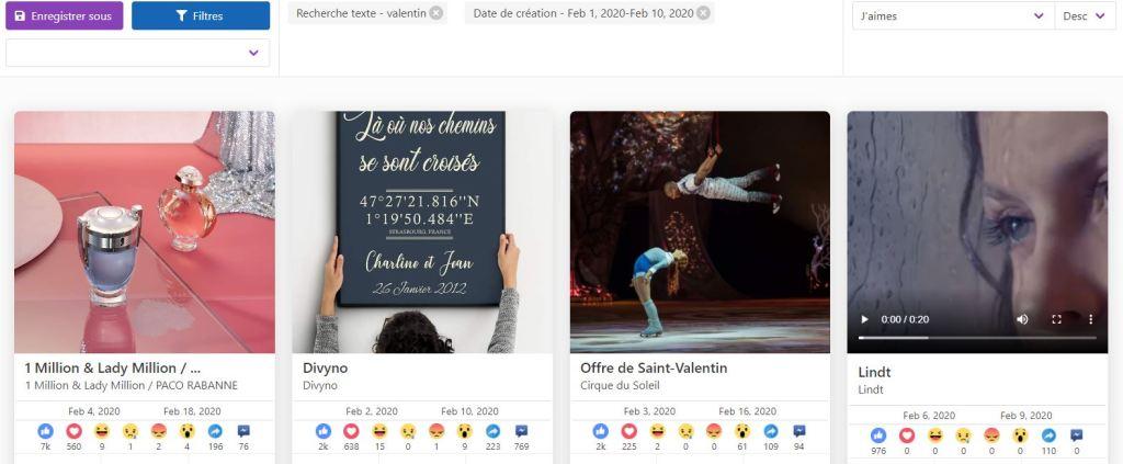 recherche produit pour la saint valentin avec Dropispy