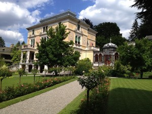 elegant house and garden