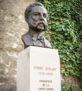 Statue of Henri Dunant, founder of the Red Cross