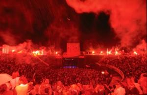 The festival takes place in a Roman ampitheatre.