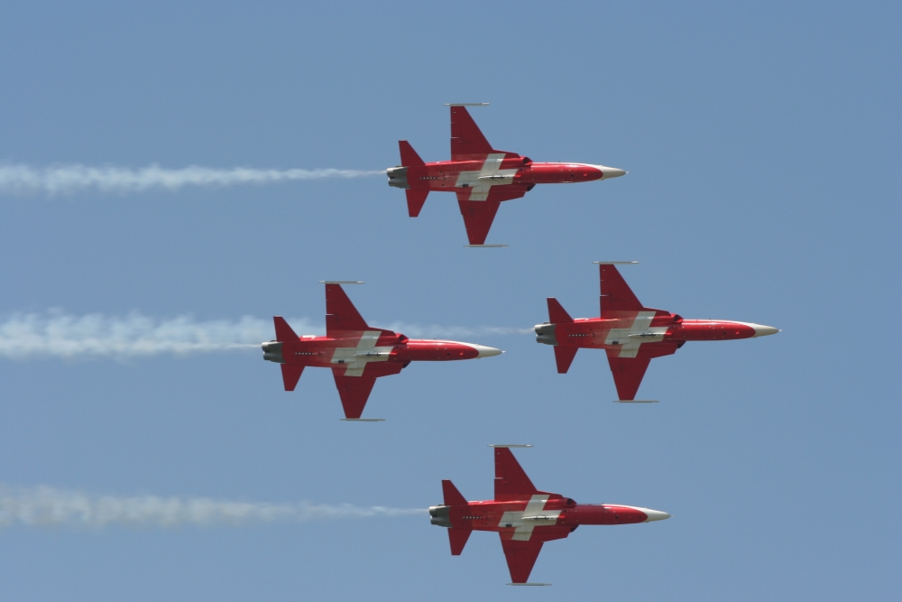 Patrouille Suisse flying in formation