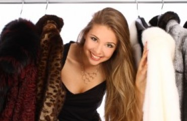 Russian girl and furs