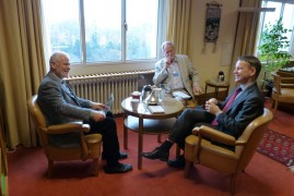 William Dowell and Edward Girardet with Christian Bach