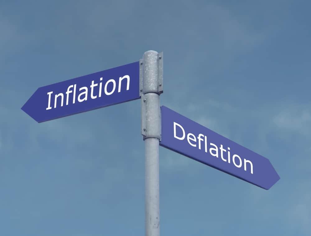 swiss inflation deflation