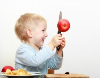 Kid with knife