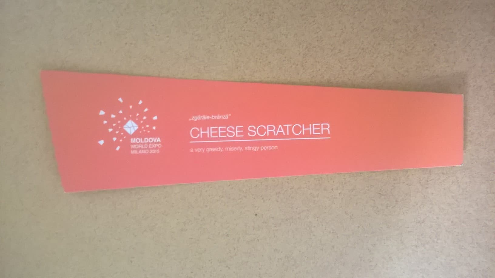 Cardboard cheese scratcher