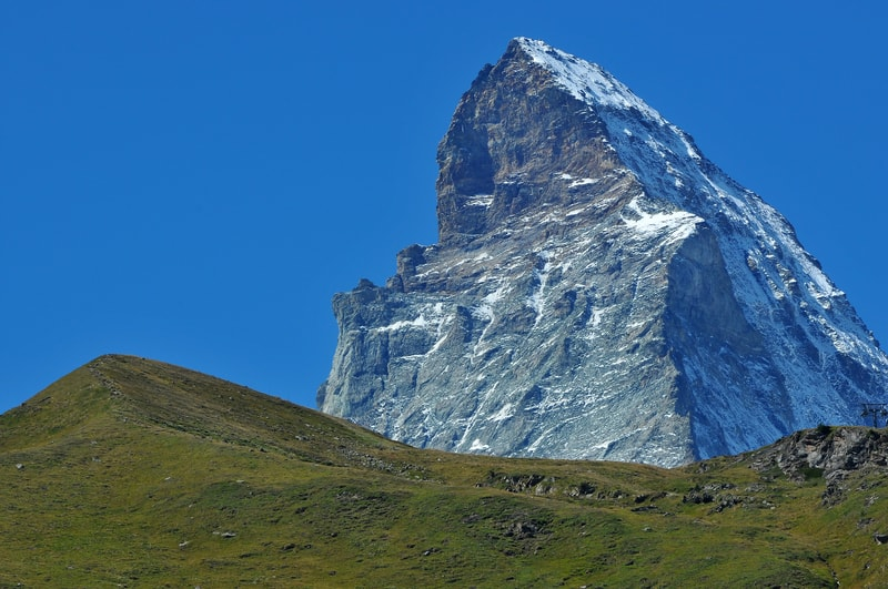 The Matterhorn - Shaded side is the North Face