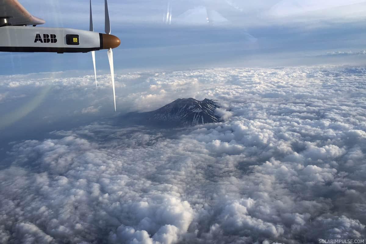 Solar Impulse approaching Nagoya Japan - Copyright Solar Impulse