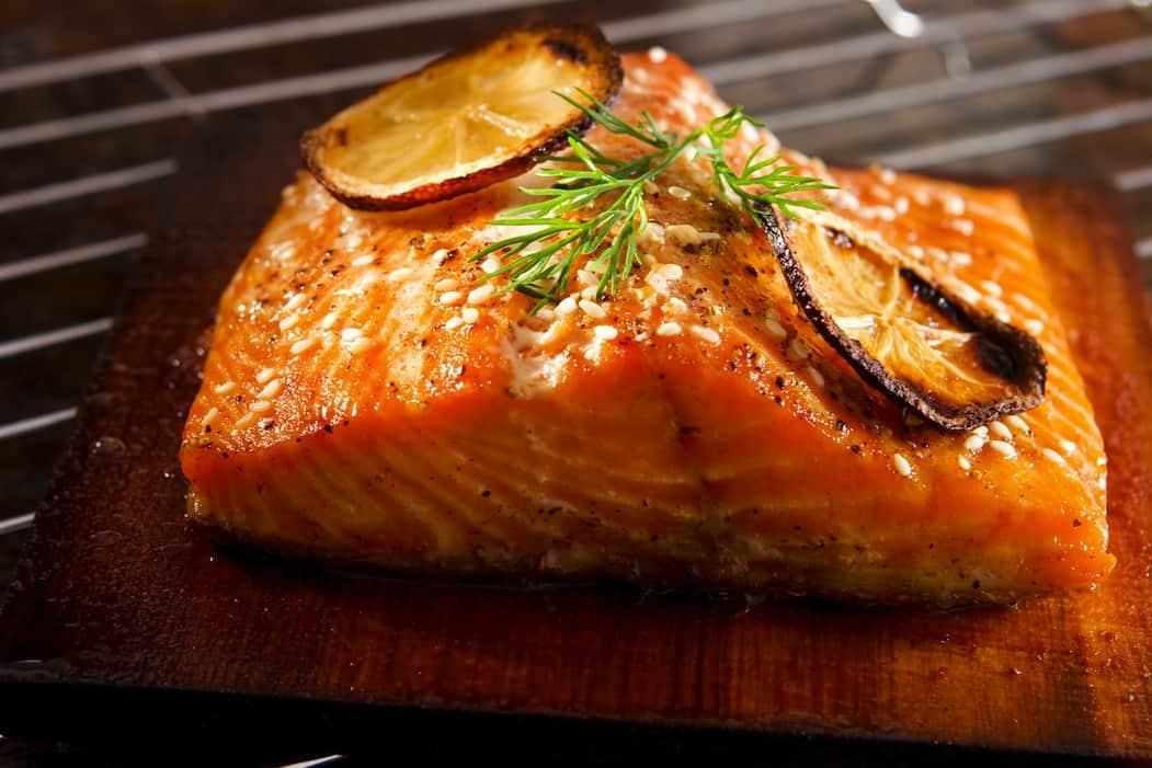 BBQ hot smoked salmon