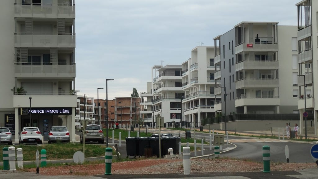 New apartments, many un-rented or unsold, in the Pays de Gex.