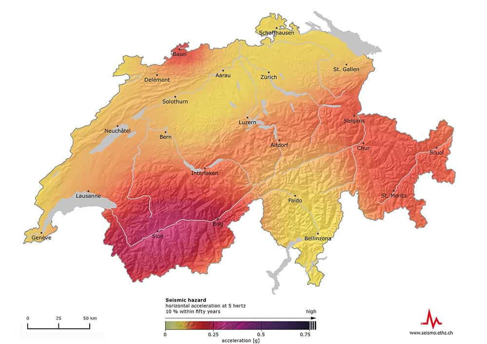 Swiss earthquake risk ETHZ 2015