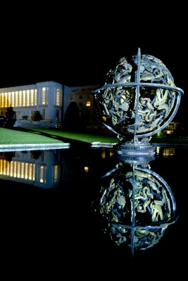 Palais des Nations by night, Geneva. Tuesday 5 November 2013. Photo by Violaine Martin