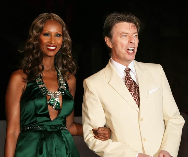 David Bowie with Iman in 2007 © Laurence Agron | Dreamstime.com