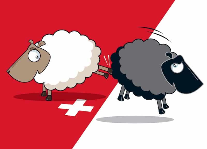 Swiss People's Party advertisement - Source: Swiss People's Party